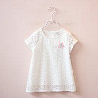 cotton fabric for t-shirt - children summer clothing new arrivals girl pure cotton t shirt baby girl soft fabric tops for whosale