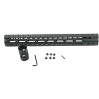 Wholesale Black Float NSR Inch Handguard One piece Top Rail System KeyMod High Quality Lightest For AR M4 M16