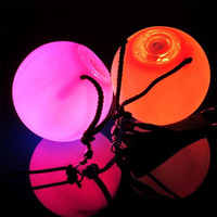 auto props - Hot selling Color Change LED RGB POI Thrown Balls Professional Belly Dance Level Hand Prop EB6457
