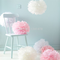 Wholesale 24 Colors as chart Tissue Paper pompoms garlands quot cm DIY tissue paper wedding for christmas decorations