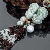 alice ornaments - ALIS Alice car ornaments car pendant jewelry grade jade pendant Adios decorative mirrors
