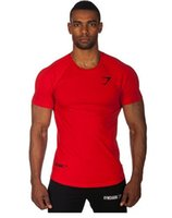 Wholesale Fashion Fitness Men s T Shirts Gymshark Sports Tops Bodybuilding Workout Clothes