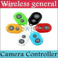 Wholesale DHL Bluetooth Remote Camera Control Self timero Shutter for iPhone S C S for Galaxy S4 Note3 Smartphones and Tablet