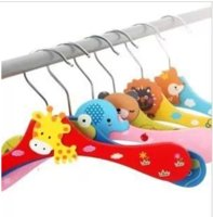 Wholesale Cartoon wooden hanger baby at home decor Clothes Pegs