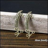antique machete - quality Antique bronze Weapons Machete Pendant Alloy Metal DIY Bracelet Necklace Jewelry Accessories