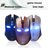 Wholesale Iron Man GHz Wireless Mouse Gaming Mouse Optical Gamer Mute Button Silent Click DPI Adjustable Computer Mice m Range