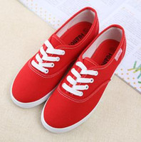 Wholesale Canvas Shoes Candy Color Flat Style For Women Colors Mix prs B11