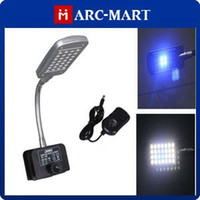Wholesale Aquarium Led Lighting W LED Aquarium Fish tank Light Water Plant Mode Clip White Blue Light HK356