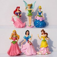 belle flash - Princess Figures Ariel Cinderella Snow white Belle Cartoon Acyipn Figures PVC Dolls Toys Flash Children s Gift Sets