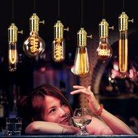 american light source - American vintage Edison Light Bulbs Tungsten wire light source Pendant Lights V V E27 Brass Lamp Holder Incandescent Bulbs