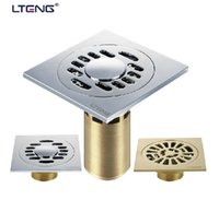 Wholesale LTENG Stainless Steel mm Square Shower Floor Drain Bathroom Anti odor Floor Drain Pest Control Drain Anti clogging Drain