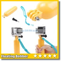 Wholesale Yellow Floaty Bobber with Strap Floating Diving Buoyancy Camera Handheld Grip Handle Mount Stick Screw for GoPro Hero