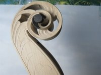 bass wood carving - Rare Carved Bass neck strings art upright double bass neck maple wood