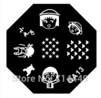 beauty salon template - DIY Nail Art Stamping Stainless Templates Black Hexagon Nail Tool Model Family Beauty Salon Enssencial Nail Kits