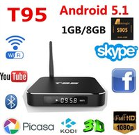 Wholesale 2016 NEW Amlogic S905 Android TV BOX T951GB GB Gigabit LAN WiFi BT4 H P KODI Pre installed T95 android tv box
