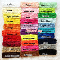 crochet tutu tops - Hair accessories Hi Quality quot Newborn Infant baby girls Top TuTu crochet headband Hair Bow colors