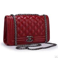 Wholesale Fashion Women Leather Handbag Cover Plaid Chain Women Shoulder Bags Classic Women Messenger Bags LHB24
