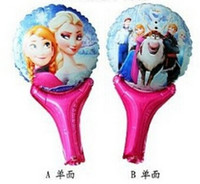 party happy birthday - Big promotion Cartoon pink pig Aluminum Happy Birthday Decoration Frozen Princess Queen Anna Elsa Balloon for Kids Party Supplies QU7
