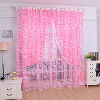 best blackout curtains - 2016 Best Selling New Home Printed Floral Voile Door Curtain Window Room Curtains Divider Scarf Home Decors High Quality
