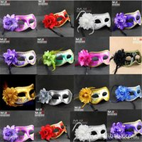 beautiful girls faces - 2015 new arrive Beautiful masquerade masks for girls women in party mix mask with a flower fashionable masquerade party masks D154
