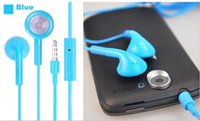 Wholesale Iphone Microphone Headphone Headset mm with Mic Color Colorful Earphones for iphone S IPHONE G G S C