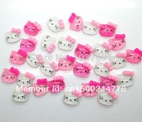 Wholesale Resin Kawaii Hello Kitty Cabochons Flatback mm Shiny Scrapbook Fit Phone Embellishment order lt no tracking