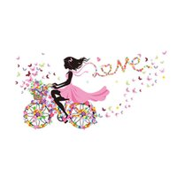 Wholesale S5Q Lovely DIY Wall Decoration Girl Butterfly Flowers Wall Stickers For Home Decor AAAFUV