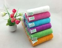 Wholesale high efficient ANTI GREASY color dish cloth bamboo fiber washing dish towel magic Kitchen cleaning cloth wipping rags