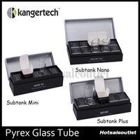 Wholesale Kanger Subtank Pyrex Glass Tube Subtank Plus Atomizer Pyrex Glass Tube Subtank Mini Subtank Nano Clearomizer Glass Tube Original