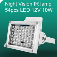 Wholesale 50m IR LED V W Night Vision IR Infrared Illuminator Light lamp LED Auxiliary lighting For Security CCTV Camera