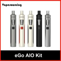 Wholesale Authentic Joyetech eGo AIO Starter Kits ml Tank mAh eGo AIO battery Revolutional Anti leak Tank vs eGo ONE Topbox mini Subovd Mega TC