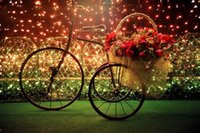 Cotton bicycle basket light - 3d Diamond Embroidery Beautiful Romantic Bicycle Flower Basket Light Picture Wall Decor Drawing rhinestone pasted cross stitch