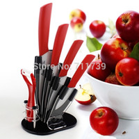 Wholesale High Quality in quot quot quot quot Knife holder High friendly Zirconia kitchen Fruits Ceramic Knives set for Modern Kitchen Red