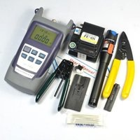 Wholesale LJP801 Fiber Optic FTTH Tool Kit with FC S Fiber Cleaver and Optical Power Meter Mw Visual Fault Locator