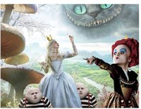 alice plane - Alice in Wonderland Painting Luxary Home Decoration Fashion Custom Poster Print Size x60 cm Wall Sticker