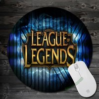art pad game - League of Legends Games Logo LOL Mouse Pad Comfort Mouse Pad Art Silicone Soft Round PC Mousepad for Optical