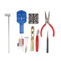 Wholesale New Arrvial pc Deluxe Adjust Watch Back Case Spring Bar Remover Opener Tool Kit Repair Fix Pin Link Remover Set Watchmaker