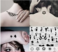 beautiful pictures cats - new male Women cat letter five pointed star and a of picture cool beautiful tattoo sticker body paint