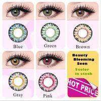 serie de leche en polvo colorido del color lentes de contacto cosméticos ojo utilizar anual DIA 14,5 mm color contactos color de los ojos de Freeshipping