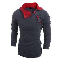 Cheap Winter Autumn Men's Hoodies New Mens Slimline Sexy Zipper Jacket Men's Coat SweatShirt coat M L XL XXL XXXL 4 colours