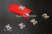 arts suppliers - 50pcs Alloy d brand logo nail art decoration DIY charms for nails Professional nail art supplier