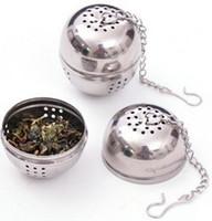 Wholesale Stainless Steel Egg Shaped Tea Teakettles Infuser Strainer Locking Spice Ball Tea Infuser Mesh Filter Loose Tea Infuser