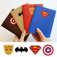 Wholesale Cartoon kawaii notebook Superman Batman Captain America Robots school notepads agenda mini sketchbook stationery school supplies HX