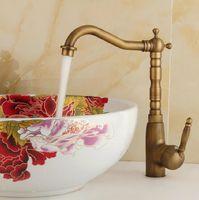 Wholesale Promotion Handle Antique Brass Kitchen Sink Faucet Vanity Faucet Swivel Mixer Tap Crane Faucet banheirOZLY F