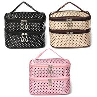 Wholesale Fashion Toiletry Travel Makeup Bag Wash Organizer Case Make Up Cosmetic Dot Zip Hanging Bags Holder Colors To Choose