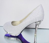 Cheap 2015 Cheap Glitter Gorgeous Wedding Shoes Women Shoes Sexy Woman Pumps Bridal Evening Party Crystal High Heels Shoes Formal Shoes FS401