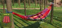 Wholesale Double camping hammock swing outdoor upset canvas hammock indoor recreational crane qwased CM hotest selling by DHL