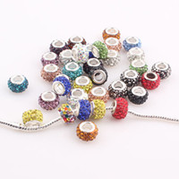 disco beads - Shamballa Big Hole Pave Crystal Disco Ball beads fit pandora DIY bracelets necklaces for women FEAL ZBE295