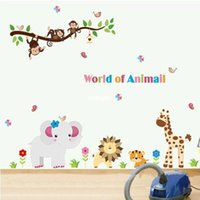 art offers - bedroom decoration Cartoon children s room wall stickers living room bedroom wall stickers special offer creative home cute animal AY9052
