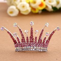 Wholesale 2015 Hair Clip The New Alloy Diamond Crown Hair Ornaments Factory Direct High end Children s Fashion Plate Made Of Accessories